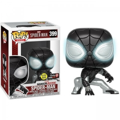 Funko Pop Marvel Spider Man #399 Negative Suit Glow in the Dark Vinyl Figure
