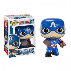 Funko Pop Marvel Civil War Action Pose Captain America #137 Vinyl Figure