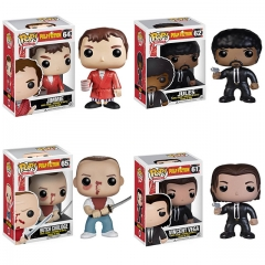 4PCS Funko Pop Pulp Fiction Jules #62 Jimmie #64 Butch Coolidge #65 Vincent Vega #61 Vinyl Figure