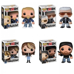 4PCS Funko Pop Sons of Anarchy Jax Teller #88  Clay Morrow #89 Gemma Teller Morrow #90 Opie Winston #91 Vinyl Figure